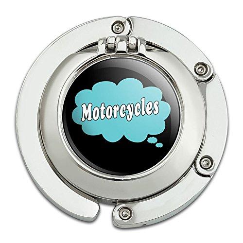 Dreaming von Motorrädern blau faltbar Tisch Tasche Geldbörse Caddy Handtasche Aufhänger Halterung Haken mit zusammenklappbar KOMPAKT Spiegel