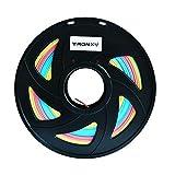 Tronxy 3D Printing PLA Filament Arc-en-ciel Multicolore 1,75 mm Poids net 1 kg (2,2 lbs) Précision +/- 0,05 mm