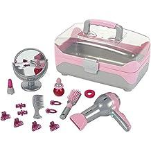 Theo Klein 5862 Schönheitskoffer mit Haartrockner, Braun, Spielzeug
