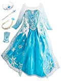 YOSICIL Princesa Disfraz de Princesa Frozen Elsa Disfraces de Princesa Gradiente Fancy Dress...