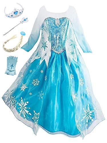 YOSICIL Princesa Disfraz Princesa Frozen Elsa Disfraces