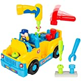 smartcraft 360 Degree Motion Tool Toy Truck with Functioning Electric Drill, Catchy Music and Flashing Lights for Kids