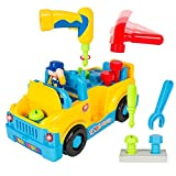 #6: Smartcraft Amazingly Equipped Tool Toy Truck for Kids with Functioning Electric Toy Drill | 360 Degree Motion with Catchy Music & Flashing Lights | Great Children's Educational Learning Toy for Boys & Girls