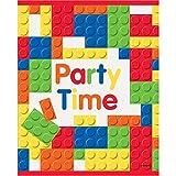 Unique Party 58243 - Pochettes Cadeau - Fête d'Anniversaire à thème de Blocs des Constructions  - Paquet de 8