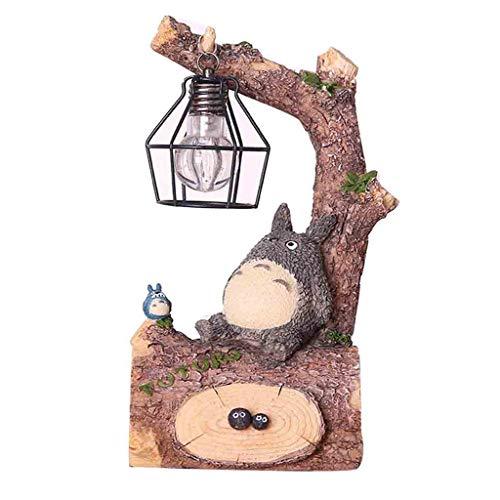 Desktop Nette Mein Nachbar Totoro Figur mit Nachtlampe Nachttischlampe für Kinder Schlummerlicht für Kinder Geschenk Zubehör für Hausgarten Dekoration (Schmücken Meinem Schreibtisch)
