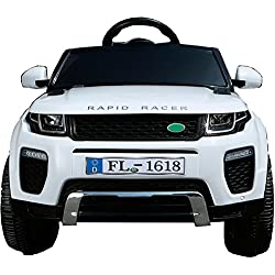 Babycoches Ranger Rapid, 12 V, suspension, mando parental, apertura de puertas, salida ralentizada COLOR BLANCO