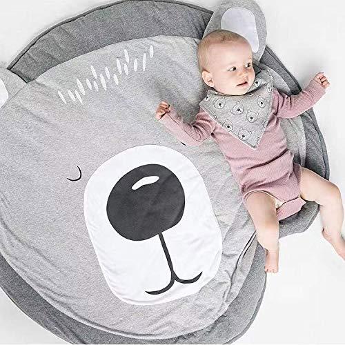 Tapis de Jeu Bebe Animaux Licorne Rose Coton Rond Tapis éveil Bébé Fille Garçon Cadeau Décoration Chambre Enfant