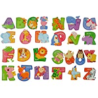 Childrens A-Z Alphabet & 123 3D Animal Wall Stickers for Boys or Girls Bedroom Nursery - Fun to Learn Educational ABC Letters for Toddlers & Kids