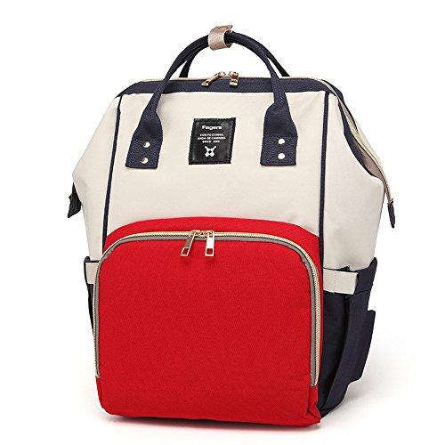 xiduobao Multifunktions-Wasserdicht Reisen Rucksack groß Kapazität Wickeltasche Mama Baby Windel bestickt Taschen, Stillen Tasche, stilvoll und haltbar (Tasche Personalisierte Bestickte Tote)