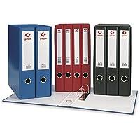 Grafoplás 7279210-Módulo de 2 archivadores con palanca de 65mm color negro
