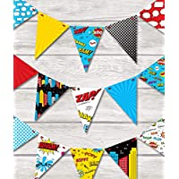 COMIC SUPERHERO BUNTING Children's Bedroom/Playroom decor