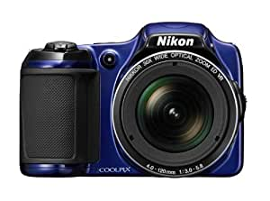 Nikon Coolpix L820 Digitalkamera (16 Megapixel, 30-fach opt. Zoom, 7,6 cm (2,7 Zoll) LCD-Monitor, Bildstabilisator) blau
