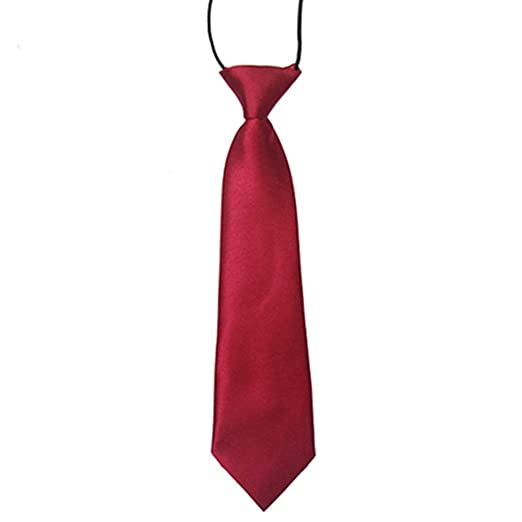 Boys Toddlers Childrens Tie Red Black Blue wedding christening party elastic NEW