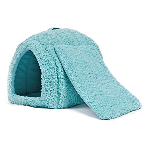 YongYeYaoBEN Super Warm Cozy Durable Hundebett Katze Cave Bed Pet Pelzzwinger Welpe Haus Pet Iglu Pet Cube Bett Für Kleine Tiere Katzen Kaninchen Kleine Hunde mit abnehmbarem Kissen 5 Schöne ()