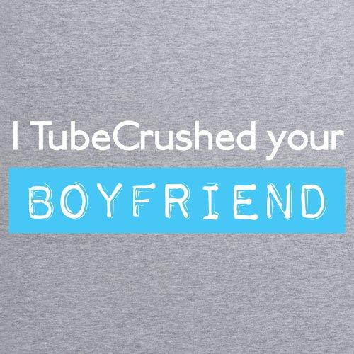 Tube Crush Boyfriend T-Shirt, Herren Grau Meliert