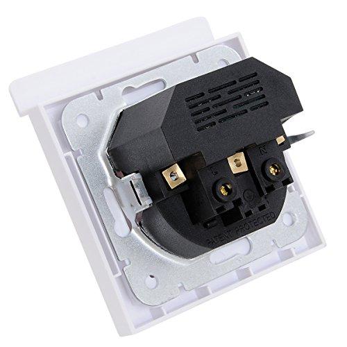 USB enchufes  Kaifire Toma de corriente Schuko al ras con el puerto 2 USB con soporte para teléfono   cargador de Iphone / Android