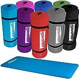 Hop-Sport Gymnastikmatte Yogamatte Fitnessmatte 1 cm extra dick und weich 185 x 60 cm dunkelblau