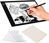 Light Box for Tracing Drawing, A4 Ultra Thin Pad, 3 Levels Dimming, 4Pcs Safety Corner Guards, USB Powered LED Copy Board