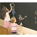 Adesivi murali Carta da parati Lavagna Decorazione camera da letto per bambini Lavagna decorativa Attaccare muro nero Vernice per bambini 45 * 200 cm