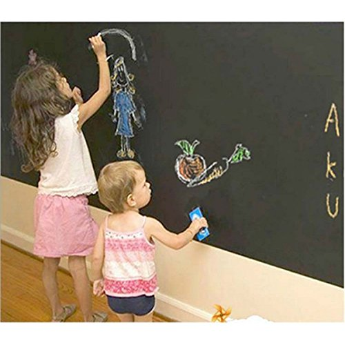 Wandaufkleber Tapete Tafel Kinderzimmer Dekoration Dekorative Tafel Sticking Black Wall Kinder Malen 45 * 200 ()
