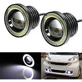 Benjoy 2Pc 3.5Inch Car Fog Lamp Angel Eye DRL Led Light for Hyundai Santro Xing