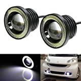 #8: Benjoy 2Pc 3.5Inch Car Fog Lamp Angel Eye DRL Led Light For Hyundai Santro Xing