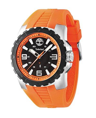 Timberland 14478JSTB/02P - Reloj, correa de goma color naranja
