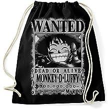 35mm - Mochila   Bolsa Monkey D Luffy Wanted- One Piece fef548a05e5