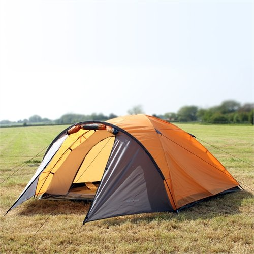 North Gear Camping Mars Waterproof 4 Man Dome Tent Orange