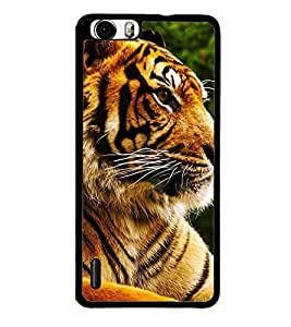 Fuson Premium 2D Back Case Cover tiger With White Background Degined For Huawei Honor 6 Plus