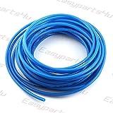 Pneumatik Polyurethan PUN Schlauch \ 1 meter \ Außen 14mm x Innen 10mm \ Blau \ Flexibel Druckluftschlauch Luft Treibstoff Öl