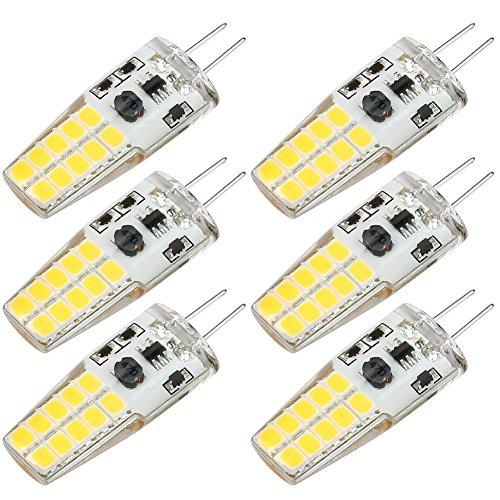 Kakanuo G4 LED-Birnen lampen 3W Ersatz für 30W Halogenlampen Warmes Weiß 3000K 300lumens AC / DC 10-20V LED-Licht-Lampe Nicht dimmbare SMD20X2835(6er)