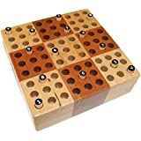 Elbert Mini Wooden Travel Sudoku Board Game Set with Wood Peg Pieces - 12.7 cm