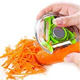 Lukzer 3 Bladed 3 In 1 Rotary Design Vegetable And Fruit Peeler For Fruit & Vegetables Chopper Tool (Colour May Vary)
