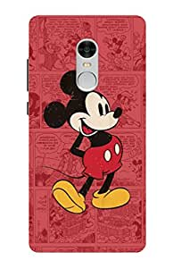Artistque Artistique's High Quality Printed Designer Back Cover For Redmi Note 4 ( Mickey; mouse; cartoon; pink; cute )