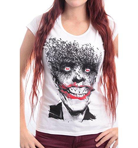 Batman - Camiseta - Mujer blanco blanco