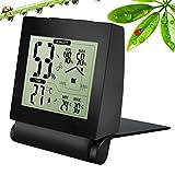 Thermomètre Hygromètre Digital, Pictek TP-50 Thermo-hygromètre Intérieur Moniteur Température Capteur d'Humidité Relative d'Air LCD Digital - Noir