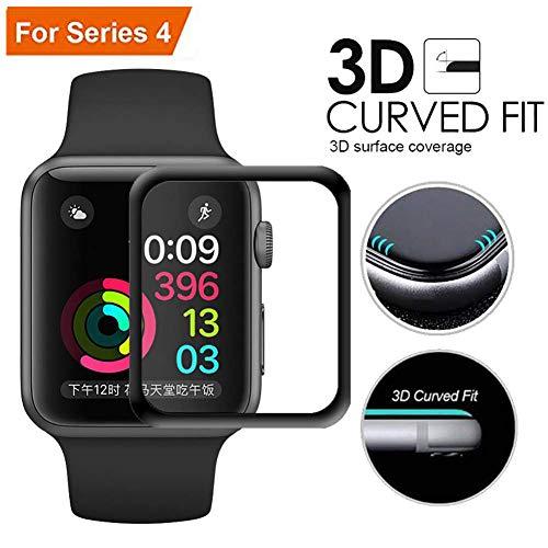 Apple-pc (Lucbuy 2 PCS Displayschutzfolie für Apple Watch Serie 1-4 38 40 42 44 mm, iWatch HD TPU-Folie Weicher Schutz Full Cover mit gebogener Kante 3D Kratzfeste Version (2PCS-44mm))