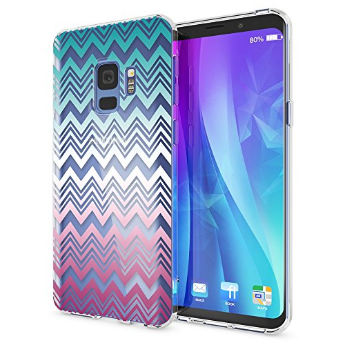 NALIA Handyhülle kompatibel mit Samsung Galaxy S9, Slim Silikon Motiv Case Crystal Schutzhülle Dünn Durchsichtig, Etui Handy-Tasche Back-Cover Transparent Bumper, Designs:Colorful Lines -