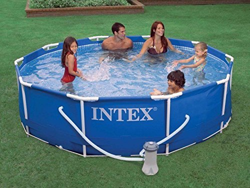 Preisvergleich Produktbild New Intex 10' x 30 Metal Frame Set Swimming Pool with Filter Pump | 28201EH by PUNER Store