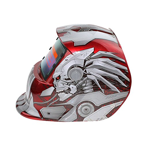 Dimmen Maske Schweißmaske Schweißhelme, Maske Auto Verdunkelung Schutzmaske für Schweißer - Rote Transformatoren ()