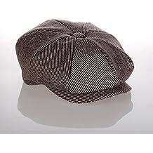 elwow Hombres tejido de mezcla de lana de alta calidad octogonal de moda  del sombrero newsboy c813217dd46