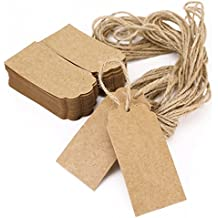 Etiqueta para regalo Joyería Etiqueta tarjeta con cuerda Gift Tags Kraft Paper 100pcs