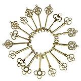 Naler Retro Schlüssel Antiken Anhänger Bronze Vintage Schmuck Deko für Armband Ketten (36 Stück)