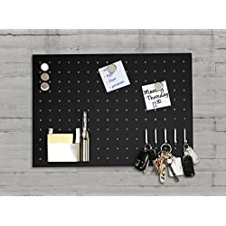 Bacheca portachiavi magnetica Master of Boards® Monaco | Portaoggetti | Acciaio inossidabile | Perfetta per la casa e per l'ufficio | 35x50 cm