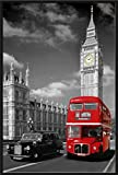 London - Bus Taxi colourlight Big Ben - Städte-Poster colourlight Foto London Big Ben Bus Taxi 61x91,5cm + Wechselrahmen, Shinsuke® Maxi Kunststoff schwarz, Acryl-Scheibe