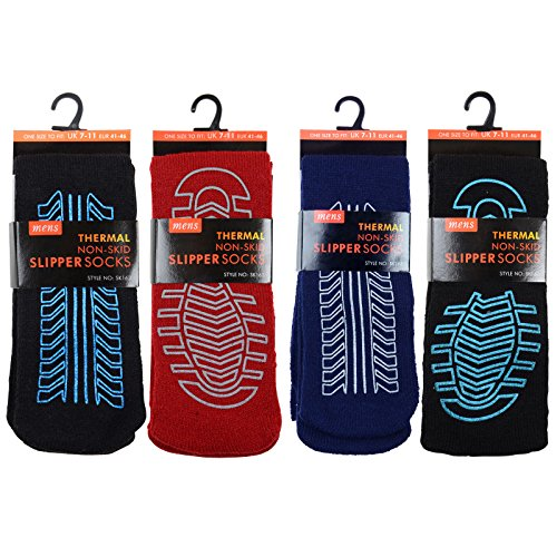 4-pairs-mens-non-skid-slip-slipper-socks-thermal-thick-fleece-one-size-7-11-uk