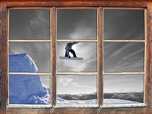 Snowboard jump, nero sport estremi / scatola bianca della parete di formato 3D: Decorazione della (Estrema Svizzera)