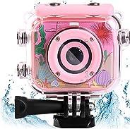 كاميرا أطفال مقاومة للماء من AMERTEER مع شاشة إل سي دي مقاس 2.0 بوصة بدقة صورة 12ميجا بكسل & دقة فيديو