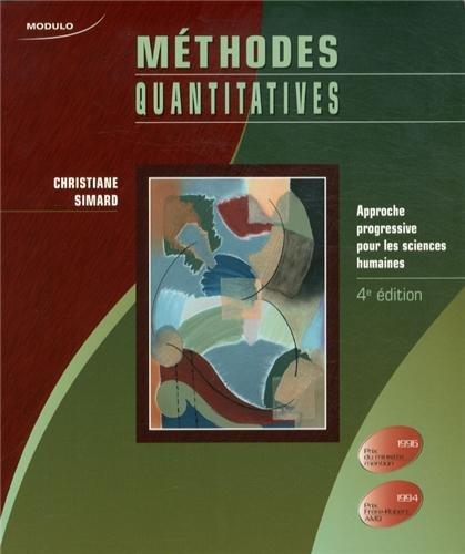 Méthodes quantitatives : Approche progressive pour les sciences humaines